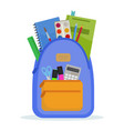 school backpack vector image vector image