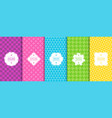 set of bright seamless geometric patterns vector image