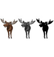 set of moose character vector image vector image