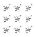 simple set thin line black shopping cart vector image vector image