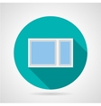 Simple window flat icon vector image