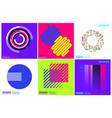simplicity geometric design set clean lines vector image