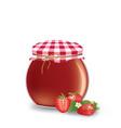 strawberry jam jar vector image vector image