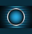 technology future silver metal circle light stripe vector image vector image