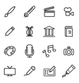 thin line icons - art vector image