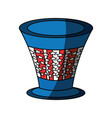 uncle sam hat vector image vector image