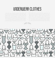 underwear clothes concept with thin line icons vector image vector image
