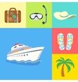 Vacation holidays and travel icons set vector image vector image