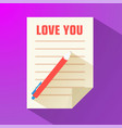 valentines day letter background vector image vector image