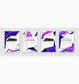 vertical white banners with neon blue pink vector image