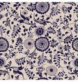 vintage seamless floral pattern gzhel vector image vector image