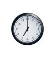 wall clock set at 7 o clock vector image vector image