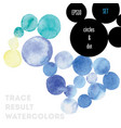 watercolor circles vector image vector image