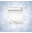 Winter background with paper and snowflakes vector image vector image