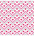Chevron Hearts Seamless Pattern vector image