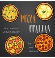 pizza food menu cafe brochure vector image