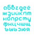 Russian alphabet in style - origami vector image