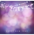 Happy new year greeting card with 2017 Glittering vector image