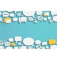 Speech bubbles and dialog balloons vector image