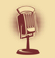 retro microphone on vintage background design vector image