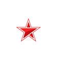 Star logo arrow mockup red silhouette modern vector image