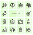 14 marketing icons vector image vector image