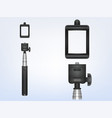 3d realistic monopod selfiestick for vector image vector image