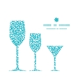 abstract underwater plants three wine glasses vector image vector image