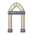 archway decorative icon cartoon style vector image vector image