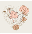 beautiful card with heart vector image vector image