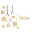 beautiful merry christmas greeting background vector image vector image