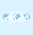blue hatched globe icon vector image