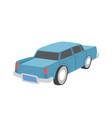 blue old retro car flat design vector image