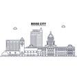 boise city united states outline travel skyline vector image vector image