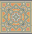 Byzantine decorative rosette vector image vector image