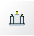 candle icon colored line symbol premium quality vector image