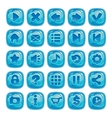 Cartoon blue square buttons vector image vector image