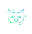 cat icon design vector image vector image
