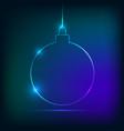 christmas ball neon style vector image