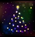 christmas tree symbol of happy new year vector image