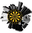 city buildings dart vector image vector image