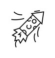 confetti line icon concept sign outline vector image vector image