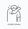 coughing person line icon outline vector image vector image