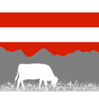 Cow alp and austrian flag vector image vector image