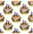 Crazy fast food cheeseburgers seamless pattern vector image vector image