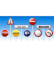 Danger traffic board mix collection vector image vector image