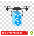 Drone Banknotes Payment Eps Icon vector image vector image