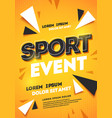 dynamic abstract sport template design background vector image