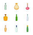 emprty beer bottle icons set cartoon style vector image vector image