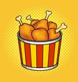 fast food chicken legs bucket vector image